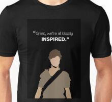 """Great, we're all bloody inspired."" Newt - The Maze Runner Unisex T-Shirt"
