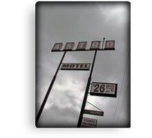 Astro Motel Canvas Print