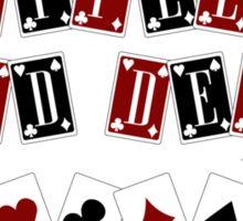 Shuffle Up and Deal Cardbacks Sticker