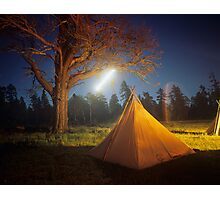 Moon Sky Trails Photographic Print