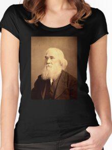 Lysander Spooner Portrait Anarchist Individualist Women's Fitted Scoop T-Shirt