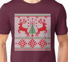 Holidays White Knit Ugly Christmas Sweater Ho Deer Unisex T-Shirt