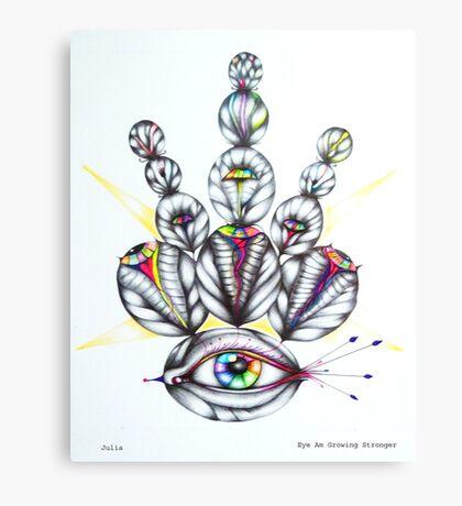 Eye Am Growing Stronger Canvas Print