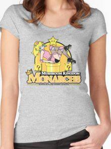 The Mushroom Kingdom Monarchs Women's Fitted Scoop T-Shirt