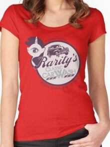 Rarity's Classic Car Wash Women's Fitted Scoop T-Shirt