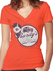 Rarity's Classic Car Wash Women's Fitted V-Neck T-Shirt