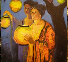 Homage to Ghenth, lady with Chinese Lantern by LesliesArt
