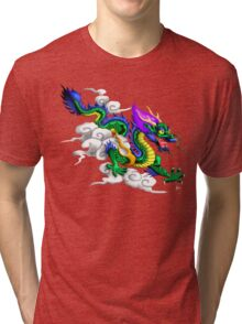 Oriental Dragon Tri-blend T-Shirt