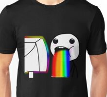 Rainbow vomiting meme Unisex T-Shirt