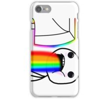 Rainbow vomiting meme iPhone Case/Skin