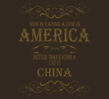 Cow in America - Cat in China by veganese