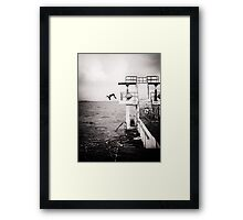 back flip.. Framed Print