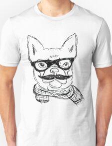 Hipster French Bulldog  T-Shirt