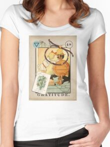 Gratitude - from The Marvelous Oracle of Oz Women's Fitted Scoop T-Shirt