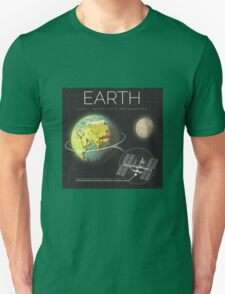 Planet Earth Infographic NASA T-Shirt
