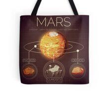 Planet Mars Infographic NASA Tote Bag