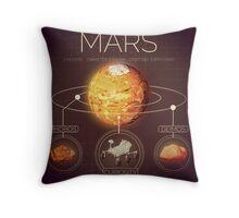 Planet Mars Infographic NASA Throw Pillow