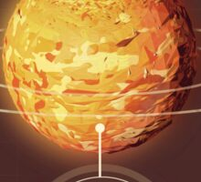 Planet Mars Infographic NASA Sticker