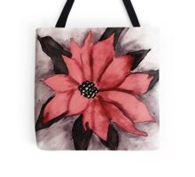 Pink Poinsetta, Watercolor Tote Bag