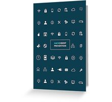 Hackcident Prevention iPad Protective Case Greeting Card