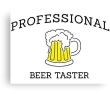 Professional beer taster Canvas Print