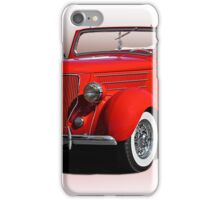 1936 Ford 'Old School' Convertible Coupe iPhone Case/Skin