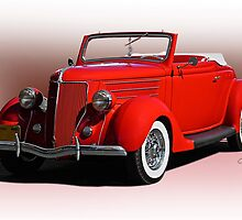1936 Ford 'Old School' Convertible Coupe by DaveKoontz