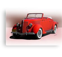 1936 Ford 'Old School' Convertible Coupe Metal Print