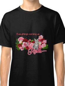 Rose Garden Kitty  Classic T-Shirt