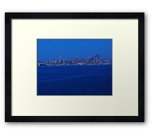Seattle from the Puget Sound Framed Print