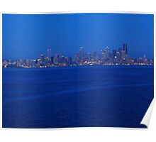 Seattle from the Puget Sound Poster