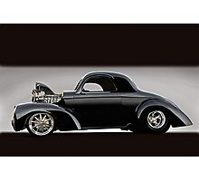 1941 Willys Coupe VS Photographic Print