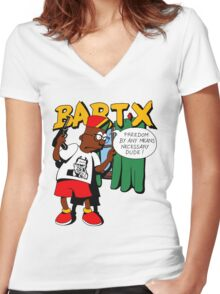 Bart X Women's Fitted V-Neck T-Shirt