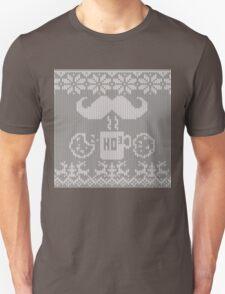 Santa's Stache Over Midnight Snack Knit Style T-Shirt