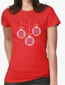Red and Pink JOY Womens Fitted T-Shirt