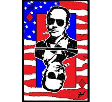 Hunter.S.Thompson. The Playing Card. by Brett Sixtysix Photographic Print