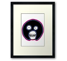 The Mighty Boosh –  Blue & Pink Mask Framed Print