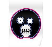 The Mighty Boosh –  Blue & Pink Mask Poster