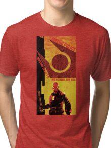 Half Life Metro Police Propaganda  Tri-blend T-Shirt