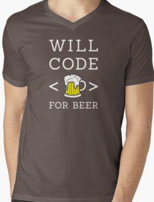 Will code for beer Mens V-Neck T-Shirt
