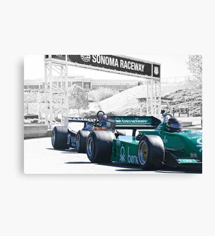 Vintage Formula One 'F1' Racecars Canvas Print