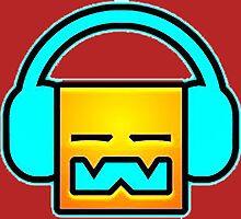 Geometry Dash headphones by Romanraa