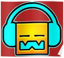 Geometry Dash headphones Poster