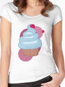 Pinkamina's cupcake Women's Fitted Scoop T-Shirt