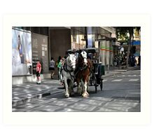 Melbourne City Streetscape Art Print