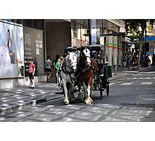 Melbourne City Streetscape Photographic Print