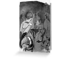 parisian scene as a  hopeless romantic may see it Greeting Card