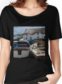 Tinker Taylor Cottage Sennen Cove Cornwall Women's Relaxed Fit T-Shirt