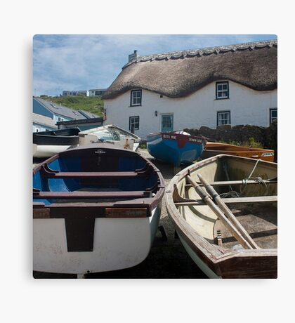 Tinker Taylor Cottage Sennen Cove Cornwall Canvas Print