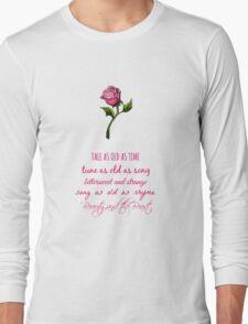 Beauty and the Beast Lyrics Long Sleeve T-Shirt